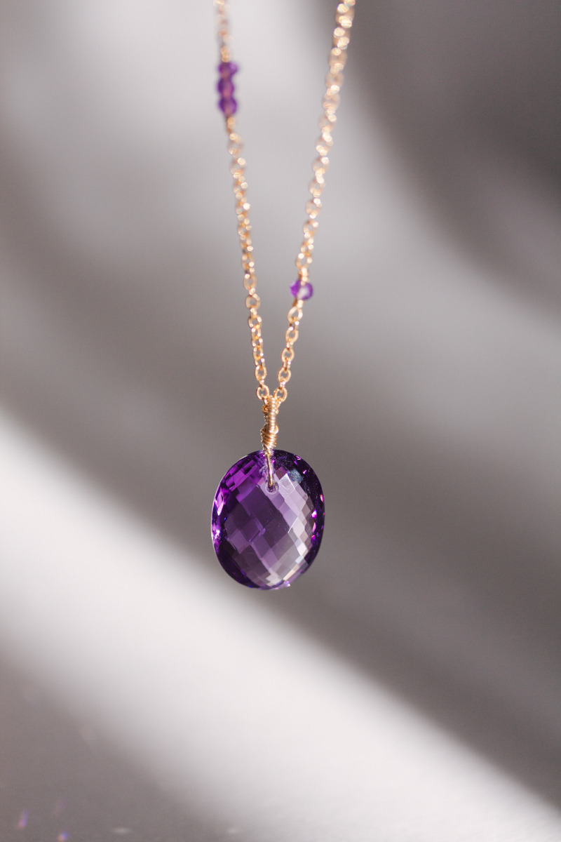 jewellery amethyst in silver sterling ed levin dawn necklace