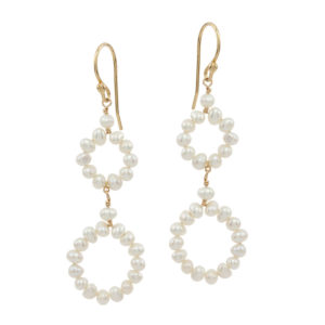 FULL CIRCLE | Round pearl earrings