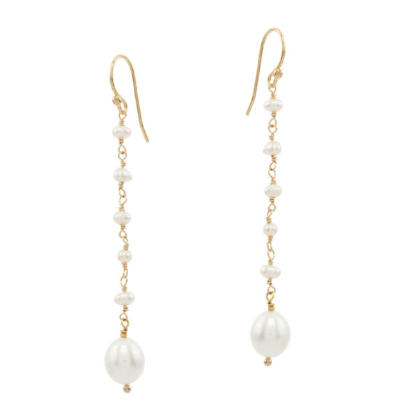 NEWLY WED | classic bridal freshwater pearl earrings