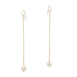 PURENESS | long elegant bridal earrings