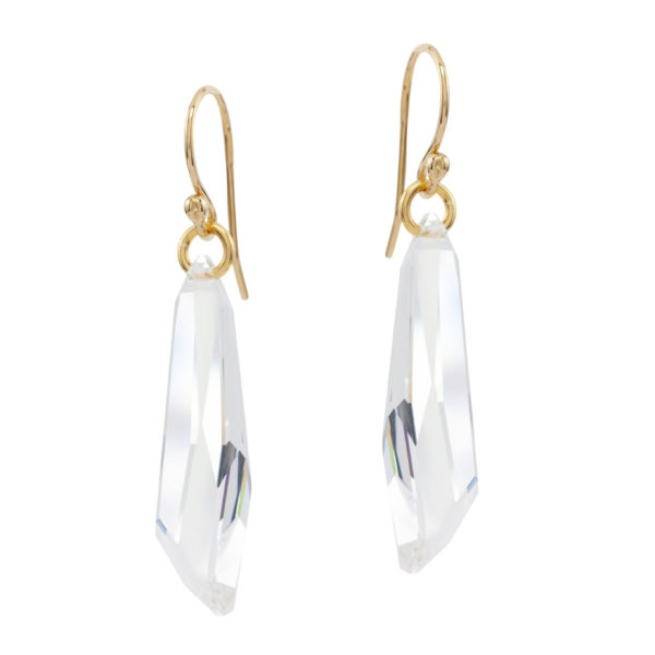 APHRODITE | modern bridal crystal pendant earrings