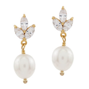 INSEPARABLE | Bridal Crystal earstuds with pearls