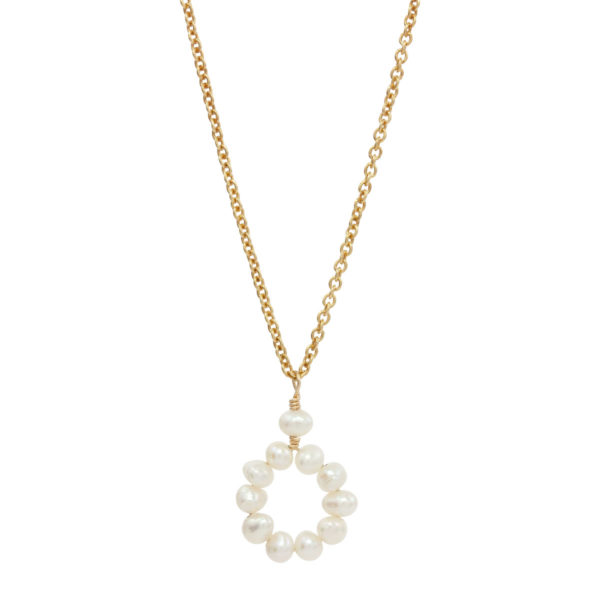 CIRCLE OF LOVE | bridal necklace with small pearls