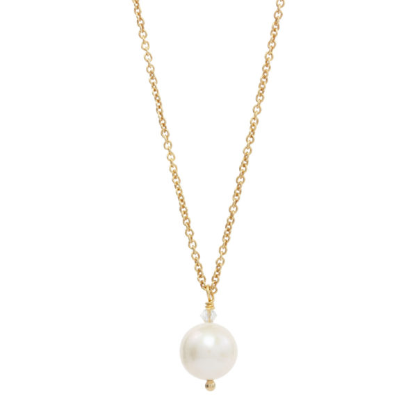 BLOOMING BEAUTY | pearl and crystal bridal necklace