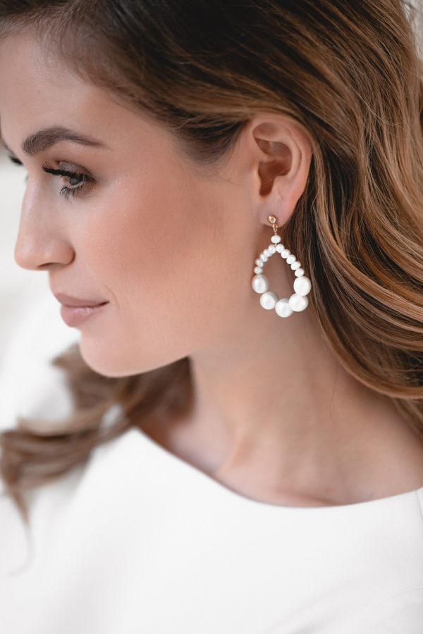 UNITY | Large pearl statement bridal earrings